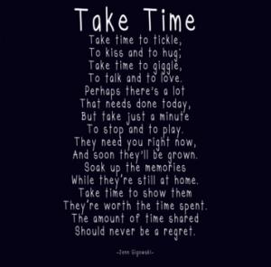 Take Time Poem