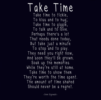 Take Time Poem