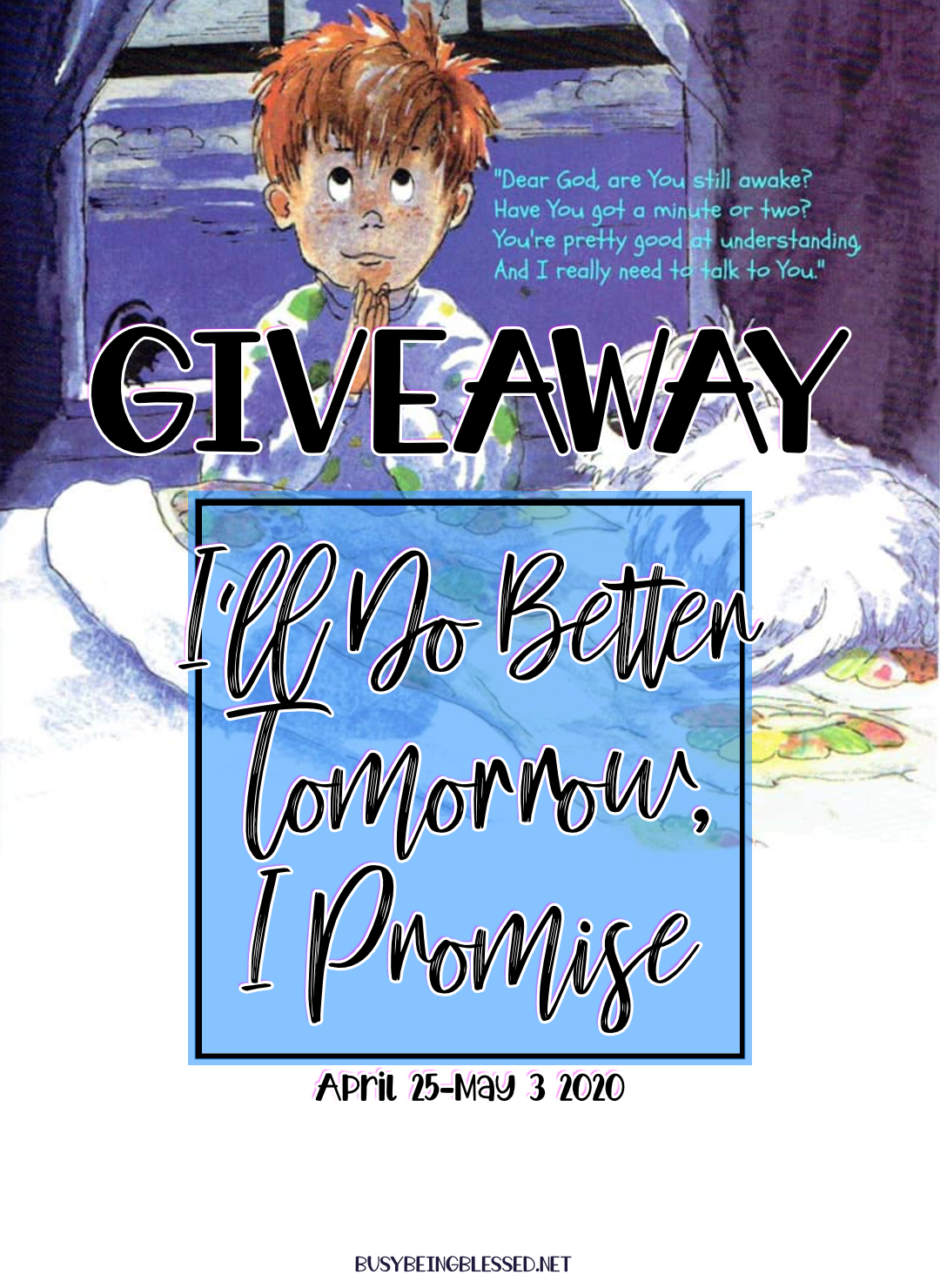 I\'ll Do Better Tomorrow {Book Giveaway}